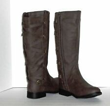 RUE 21 ETC! FASHION BOOTS – BROWN - REAR STRAPS with BUCKLES – SIZE 10 – NWT $42