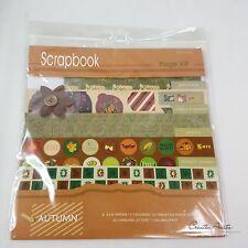 Scrapbooking Papierset + Embellishments AUTUMN HERBST Basteln