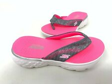 NEW! Skechers Youth Girl's ON THE GO 400 LIL PIZAZZ Sandals Gry/Pnk #8674 73R z