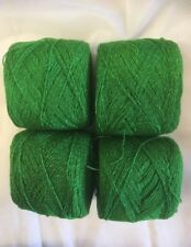 Lace yarn Crystal Color 628 Green Acrylic/Rayon. 900 yards per ball. 1 lot of 4.