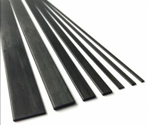 Select Size - Thickness 1 to 6mm Carbon Fiber Strip Flat Bar Width 2 to 30mm
