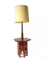 Mid Century Modern Danish Walnut table lamp restored wood vintage retro