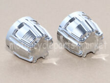 Chrome Deep Cut Front Axle Cap Nut Cover For Harley Dyna Electra Street Glide