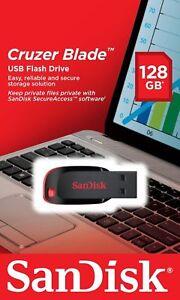 SanDisk 128GB Cruzer Blade 128G USB 2.0 Flash Pen Drive SDCZ50-128G-B35 Retail