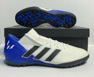 Adidas Nemeziz Messi Tango 18.3 T Turf Soccer Shoes White Black Blue [DB2220]