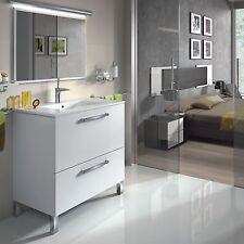 Baltic Bathroom Vanity Wash Basin Base Gloss White Waterproof Veneer INC SINK