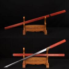 HIGH QUALITY HANDMADE ZATOICHI JAPANESE NINJA SWORD CLAY TEMPER BLADE CanCutTree