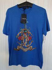 Roberto Cavalli Blue Royal Sailor T-shirt L Neu mit Etikett