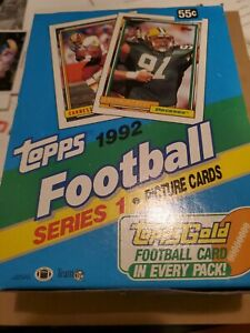 1992 Topps Football Series 1 Unopened Box Topps Gold Card in Each Pack (36)