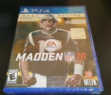 Madden NFL 18: GOAT Edition (Sony PlayStation 4, ps4) brand new factory sealed.