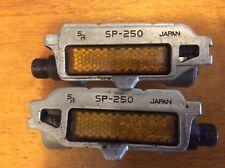 "Vintage Sakae Ringyo SR SP-250 SP 250 9/16"" Bicycle Pedals Track Touring Alloy C"
