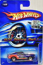HOT WHEELS 2006 1970 MUSTANG MACH 1 #125 BLUE FACTORY SEALED