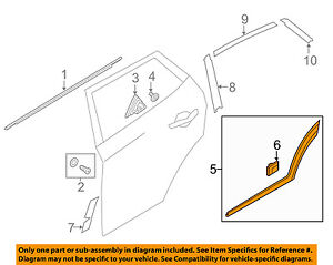 HYUNDAI OEM Tucson Rear Door Body Side-Lower Molding Trim Left 87731D3000CA