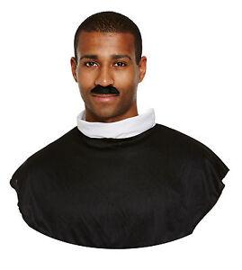 Instant Dress Up Kit Adult Vicar Priest Set Shirt Front, Collar Tash Fancy Dress
