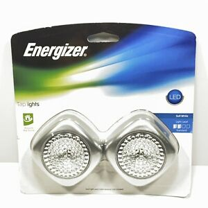 Energizer LED Tap Lights 2 Pack Battery Operated Soft White Light Push On/Off