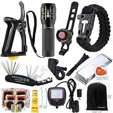 Funnykit 8-in-1 Bike Accessory Set with Bike Repair Kit, Mini Bike Flashlight