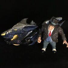 DC Comics BATMAN Kenner Batbike Vehicle & Penguin Action Figure Toy Bundle
