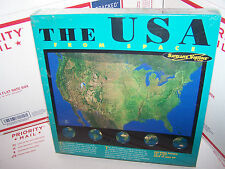 """THE U.S.A FROM SPACE 550 PIECE PUZZLE BY SATELITE VISIONS- NEW- 18"""" X 24"""""""