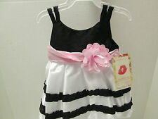 Sweet Heart Rose Black and White Fancy Baby Dress, Size 3-6 Months, NWT
