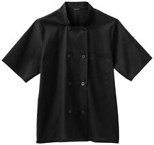 Five Star Men's Short Sleeve Stand Up Collar Placket Buttons Chef Coat. 18011