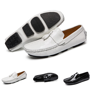 Chic Mens Driving Moccasins Shoes Pumps Slip on Loafers Tassels Shiny Outdoor L