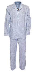 NWT ZIMMERLI Switzerland PYJAMAS 4742 cotton blue luxury handmade XL