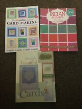 3 crafting books- card making- Indian summer- simply beautiful cards.
