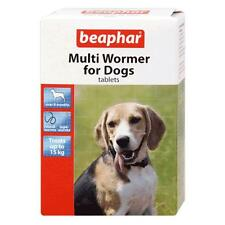 Beaphar Dog Puppy Multi Wormer Worming Roundworm Tapeworm Tablets Treatment 12pk