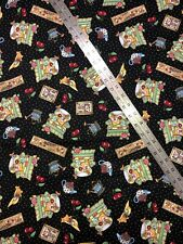 Mary Engelbreit Home Sweet Home Cherries Cotton Fabric 1/2 Yard New