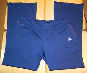 Women's Nike Team Fit Dry UofA Arizona Wildcats Warm Up Track Pants Size Large
