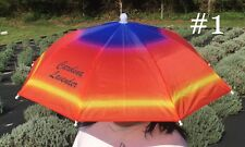Carolina Lavender Umbrella Hat Outdoor in Sun & Rain Foldable Headwear