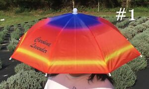 Carolina Lavender Umbrella Hat Outdoor in Sun & Rain Foldable Headwear