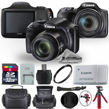 Canon PowerShot SX540 HS Digital Camera 20.3MP 50x Optical NFC / WiFi - 32GB Kit