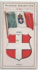 Italy Flag Banner Emblem Italian 110+ Y/O Ad Trade Card