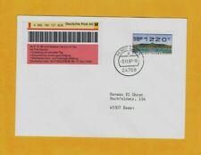 Seltene ATM-EF NADELDRUCK 1220 Postversuch Express ET Pilotphase Rendsburg 1997