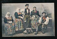 Czechoslovakia CHODSKY group National Costumes Dress 1912 PPC