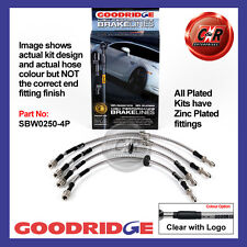 BMW 3 Series (E46) Not M3 99-06 Goodridge Zinc Plated CLG Brake Hoses SBW0250-4P