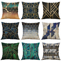 18'' Geometric Pattern Cotton Linen Pillow Case Throw Cushion Cover Home Decor
