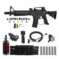 Tippmann US Army Alpha Elite Tactical HPA Red Dot Paintball Gun Package