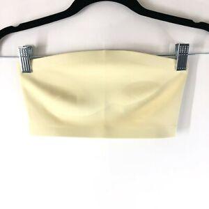 Intimately Free People Nina Bandeau Bralette Tube Top Stretch Daybreak Yellow XS