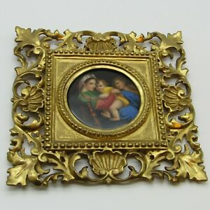 Paris. Plaque en porcelaine La Vierge à la chaise d'après Raphaël, XIXe siècle