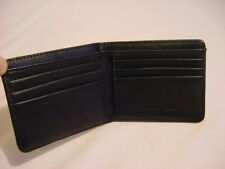 BLACK LEATHER LONDON FOG WALLET