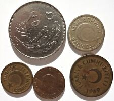 Turkey 5 Coin Lot