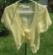 "Women's Charlotte Russe Small Yellow Knit Shrug, Light 16"" Length, Free Shipping"