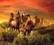 WILD SOUTHWEST HORSES DESERT SCENE HOME DECOR COMPUTER MOUSE PAD 9 X 7