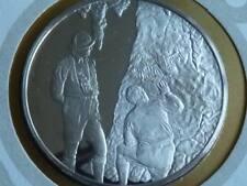 Lot 27 39mm argent reproduction médaille Rock Peintures ANTILLES