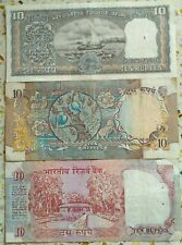 THREE DIFFERENT OLD TEN RUPEES 10 RS 3 NOTES SET