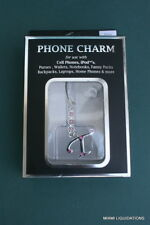 Cell Phone Charm Letter Initial Monogram T Pink Bling Crystals Smooth Talk