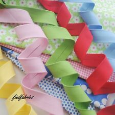 30mm Bias Binding Extra Wide Solids Spectrum Plain Handmade Quilt Craft