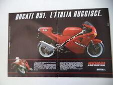 advertising Pubblicità 1989 MOTO DUCATI 851 SUPERBIKE
